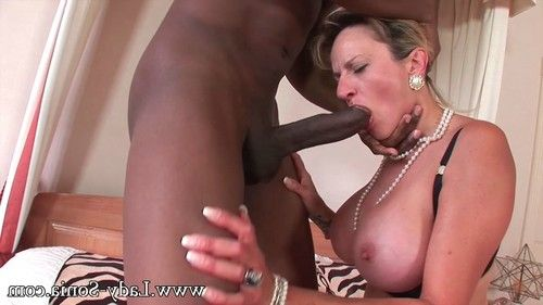 Milf lady sonia having tough fucking action with ebony fellow