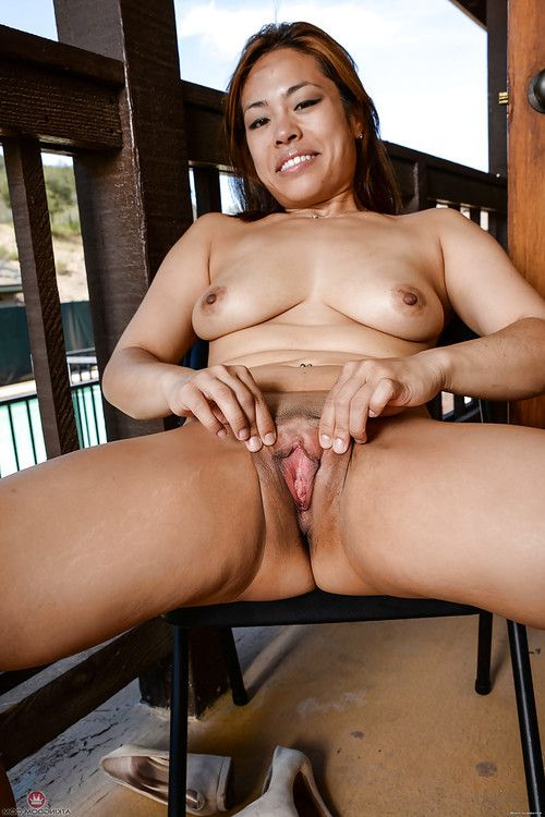 Decadent calm Chinese girl Laci Hurst amplifying her inflexible slit