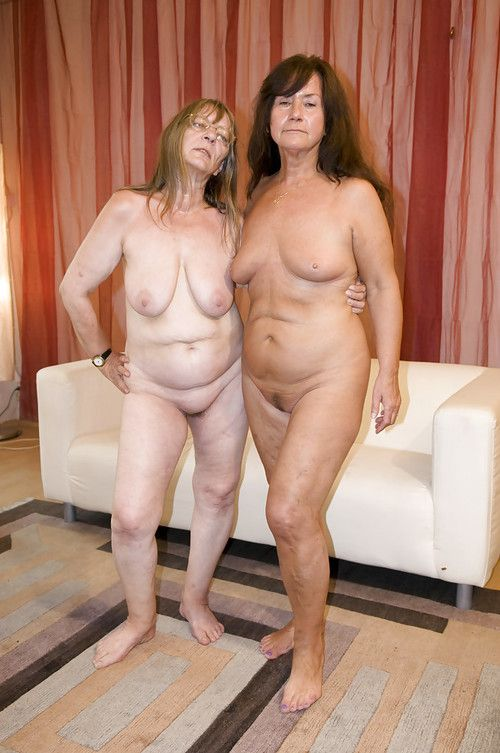 Massive nans Gusti Tschopp and Gerti Berg undressed saggy wobblers prior to dong fuck