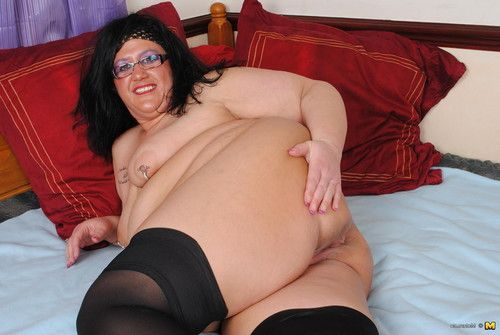 Nasty bbw playing with she is