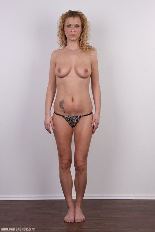 Tall youthful milf standing in casting session