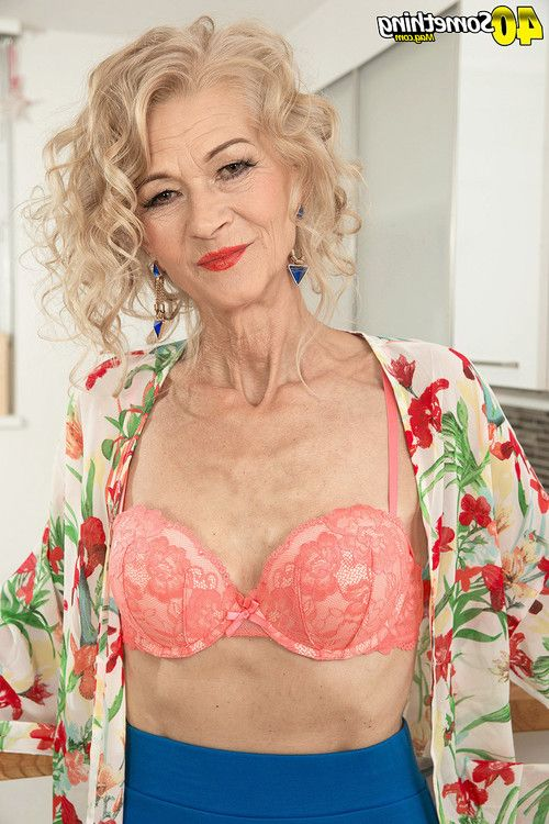Appealing old mamacita showing her watertight body for her age