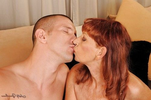 Passionate aged with insignificant mambos mouth to mouth and smoking with a moist stud