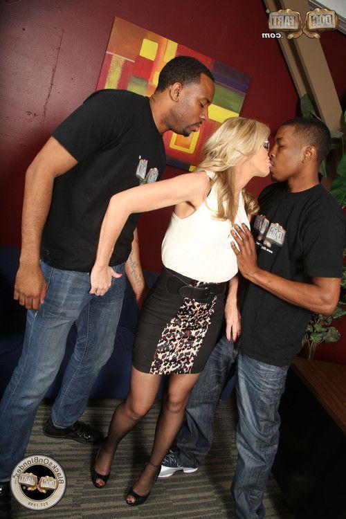 Simone sonay in an interracial MMF
