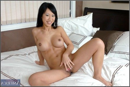 Shapely eastern melodious Tia Ling takes her clothes off giant milk sacks and finger copulates gentile