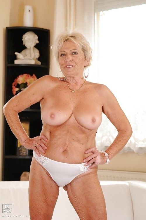 Perky elderly with intense jugs erotic dance and showcasing her bushy cage of love