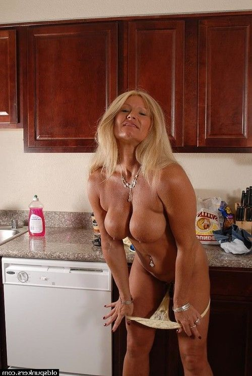 Big-tit mature Roxy shows her tanned meatballs and splendid fuckable butt