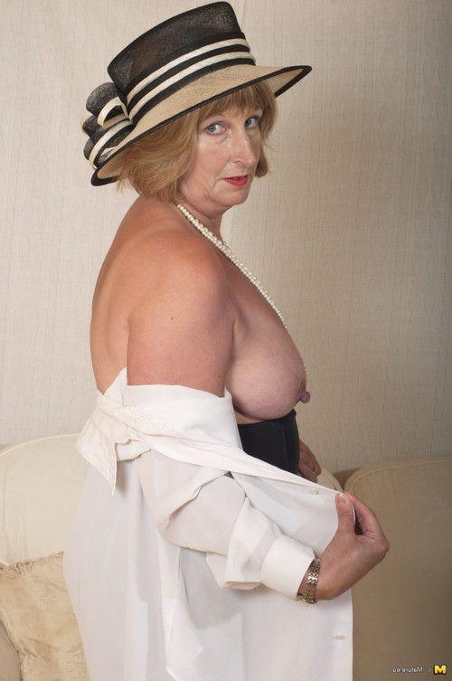 Bawdy british ready lady receives merry