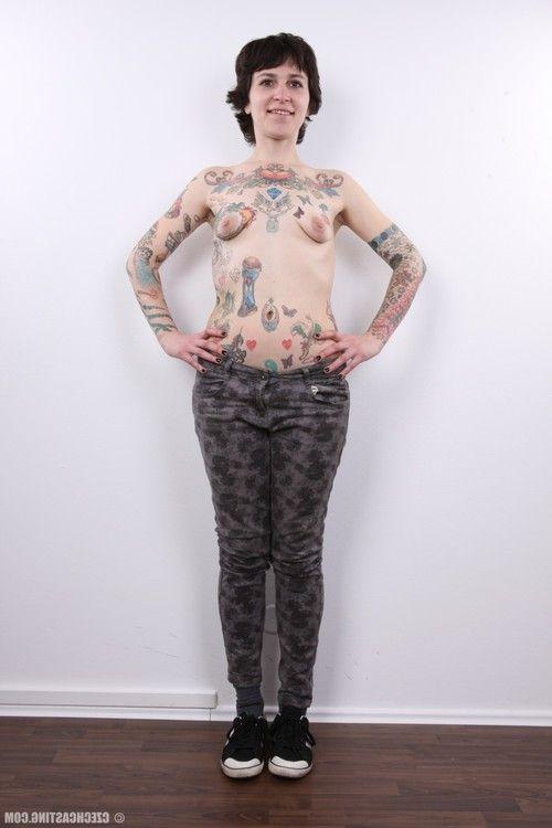 Seasoned tattooed courtesan way
