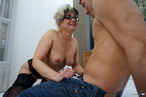 Concupiscent housewife playing with her paramour