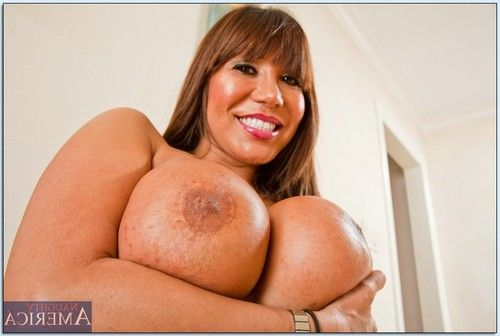 Ripe eastern seductress Ava Devine posing topless in nylon