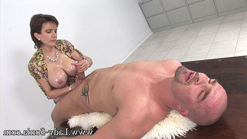 Oiled vast bazookas milf lady sonia giving tugjob
