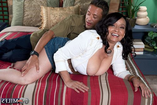 Breasty 60milf rochelle seducing a stud for a fuck