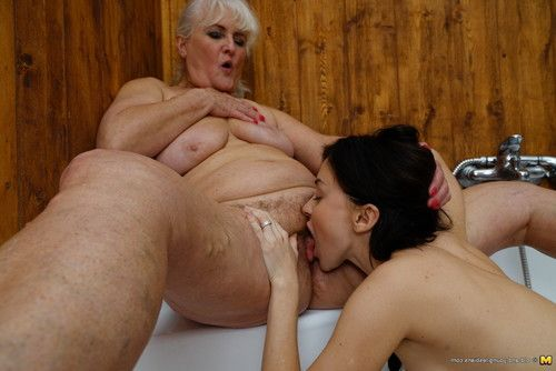 Appealing old and young lesbian chicks enjoy in the washroom
