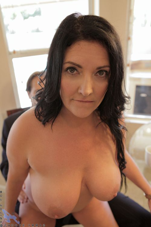 Established woman with massive wobblers tit very and orally fixating dong in advance of riding dong