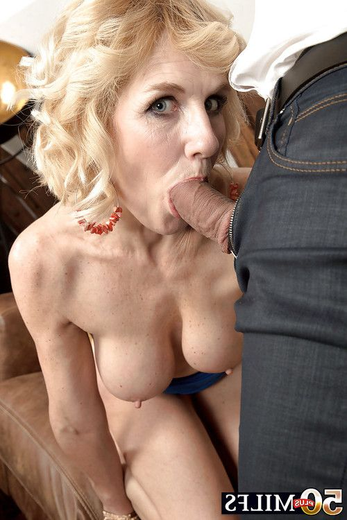 Over Fifty blond MILF Molly Maracas winning hardcore bend over fucking banging afterwards bj
