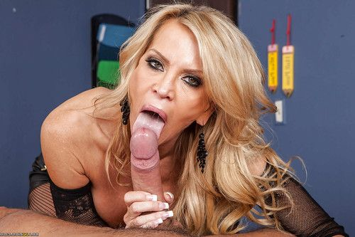 Sexually intrigued educator with enormous jugs Amber Lynn sucks and screws her student