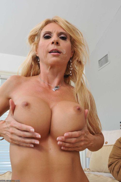 Hawt golden-haired milf getting dug by heavy rod