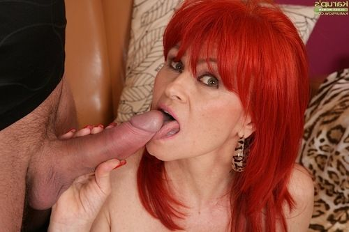 Ready redhead Amanda Rose winning facial ejaculation subsequently giving fellatio