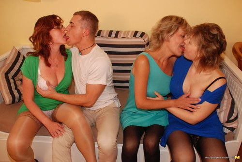 One happy men astonishingly 3 placid prostitutes