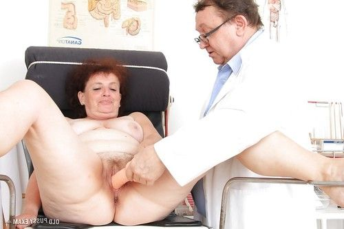 Fatty adult with unshaven twat gains examed by a dirty-minded gyno