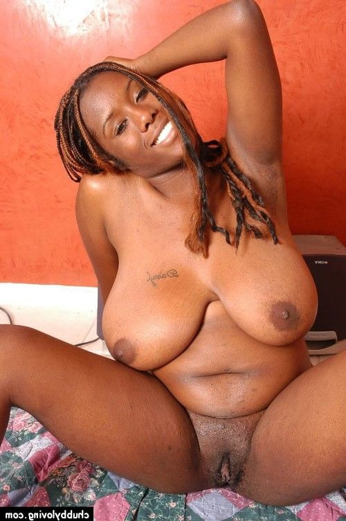 Adult ebony plumper with huge scones and huge a-hole expanding pink wet crack