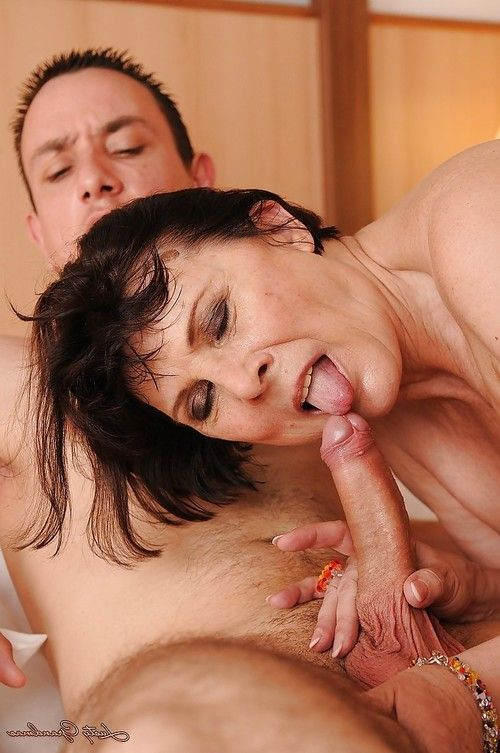 Concupiscent grown up gives some anus ass-licking indulgence to younger man and receives nailed