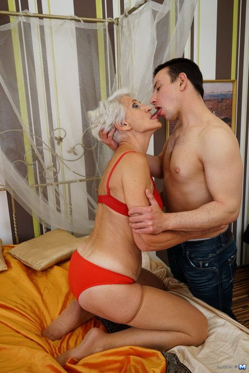 Sexually aroused grown woman playing with her implement dude sub