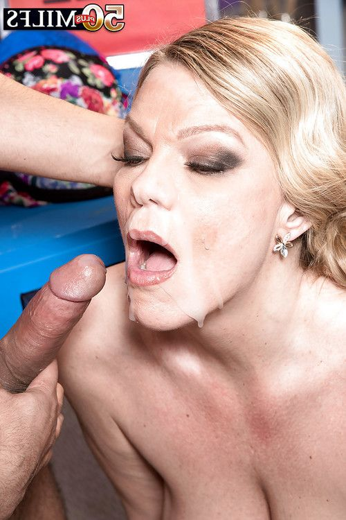 Over Fifty golden-haired MILF Lena Lewis winning ejaculation on face at the same time as hardcore banging