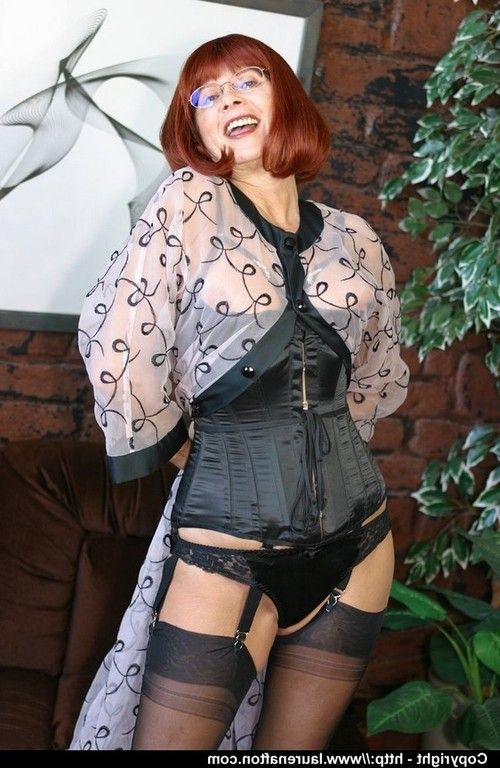 Moist redhead full-grown mamma Miss Abigail shows as was born wazoo hulking legs in underware