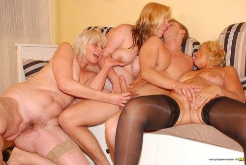 Triple sexually intrigued adult ladies and one belting partyboy