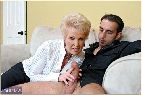 Lewd full-grown Mrs. Jewell brings out puffy juggs and enjoys smokin