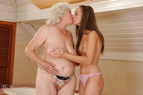 Sexual elderly involves her foxy fresh ally fond of some female-on-female act