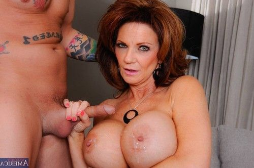 Passionate titted milf getting smokin