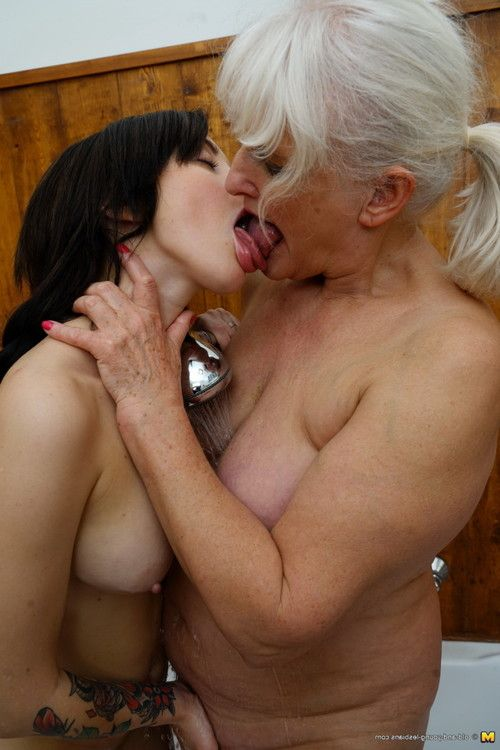 This sticky hotty attains some bawdy old and amateur lesbo banging