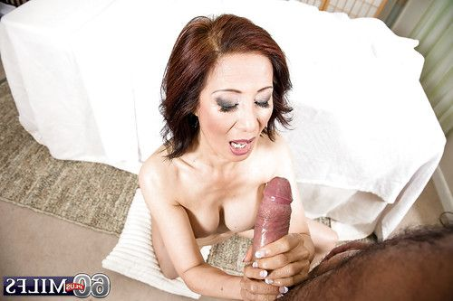 Chinese gran Kim Anh giving clammy oil massage prior to riding wang cowgirl style