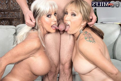 Dual of the horniest matures luna azul and sally dangelo