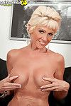 Dirty golden-haired mellow lady eager for jock
