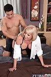 Mediocre blond ripe penetrated in love making doing