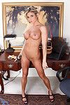 Milf model at her office expands her creamy bawdy cleft