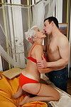 This ready lady fall in love with having joy with her gear dude sub