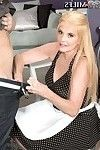 Titsy 60milf wench serving a cake and and having a rod