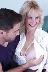 Appealing british housewife getting it in the livingroom