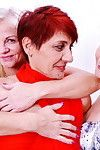 Triple old and adolescent lesbian cuties make out