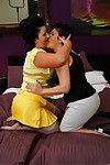 3 old and teen lesbian chicks licking and playing