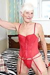 Bawdy british calm lady getting excited