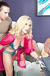 Nancy benefits from fucked into ass despite the fact her companion watches