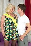 Passionate housewife fooling around with her stud sub tool