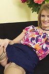 Bawdy housewife teasing and joyful