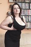Massive breasted mommy engulfing and smokin\' massive